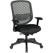Office Star SPACE Fabric Executive Office Chair, Fixed Arms, Black (829-R2C728P-231)