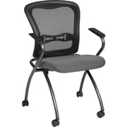 Office Star 84440-226 Plastic/Metal Folding Chair, Black