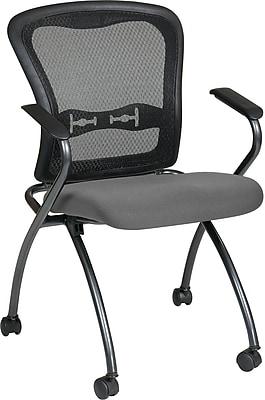 Office Star 84440-226 Plastic/Metal Folding Chair, Black