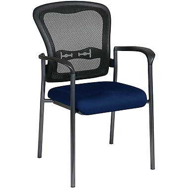 Office Star Proline II® ProGrid® Back Guest Chairs with Arms and Titanium Finish