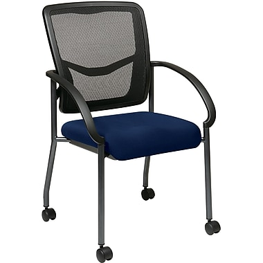 Office Star Proline II® ProGrid® Back Fabric Visitor's Chairs with Arms