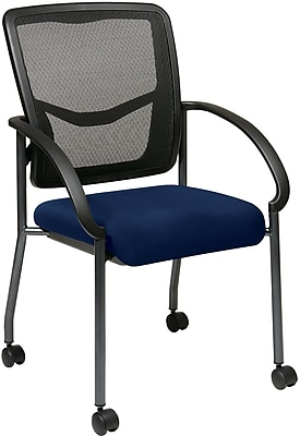 Office Star Proline II® ProGrid® Back Fabric Visitor's Chair with Arm