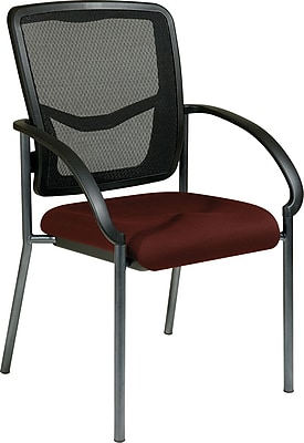 Office Star Proline II ProGrid Metal Guest Chair, Burgundy (85670-227)