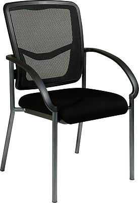 Office Star Proline II® ProGrid® Back Fabric Guest Chair, Black