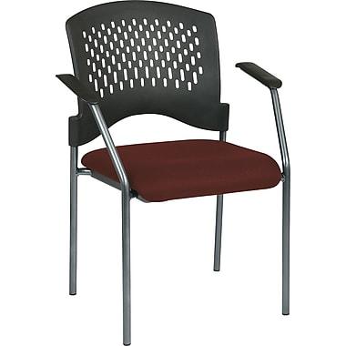Office Star Proline II Metal Guest Chair, Burgundy (8610-227)