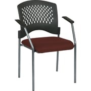 Office Star Proline II Metal Guest Chair, Burgundy (8610-227)