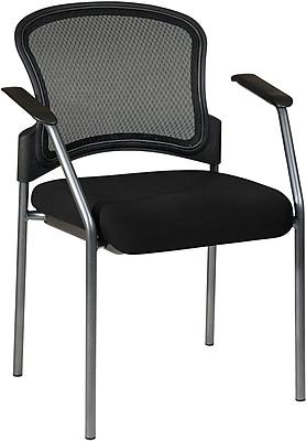 Office Star Proline II ProGrid Metal Visitors Chair, Black (86710-231)
