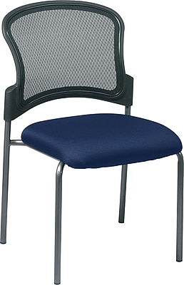 Office Star ProGrid Metal Back Visitors Chair, Navy (86724-226)