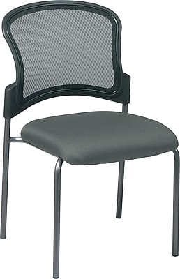 Office Star ProGrid Metal Back Visitors Chair, Gray (86724-225)