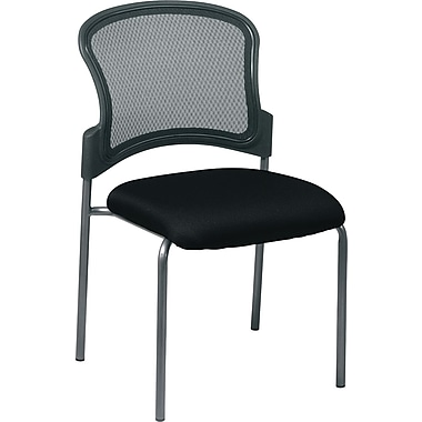 Office Star ProGrid Metal Back Visitors Chair, Black (86724-231)