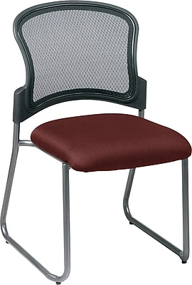 Office Star Proline II ProGrid Metal Visitors Chair, Burgundy (86725-227)
