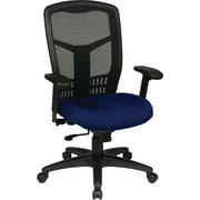 Office Star Proline II Fabric Managers Office Chair, Adjustable Arms, Navy (90662-225)