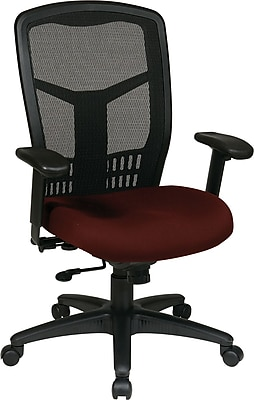 Office Star Proline II Fabric Managers Office Chair, Adjustable Arms, Burgundy (90662-227)