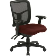 Office Star 92343-227 Pro-Line II Fabric Managers Chair with Adjustable Arms, Burgundy