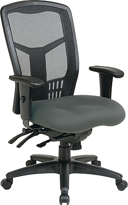 Office Star Proline II Fabric Managers Office Chair, Adjustable Arms, Black (92892-226)