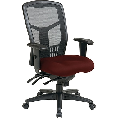 Office Star Pro-Line II High-Back Fabric Manager's Chair, Adjustable Arms, Burgundy