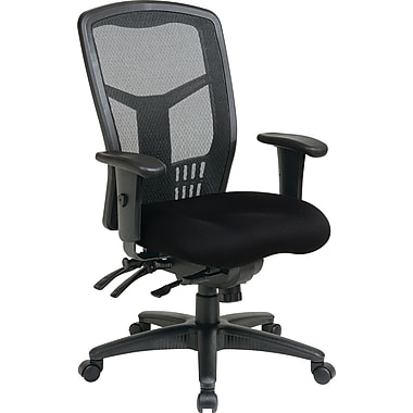 Office Star Proline II Fabric Managers Office Chair, Adjustable Arms, Black (92892-231)