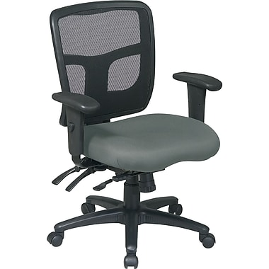 Office Star Fabric Managers Office Chair, Gray, Adjustable Arm (92893-226)