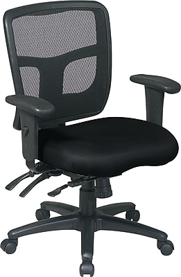 Office Star Fabric Managers Office Chair, Black, Adjustable Arm (92893-231)