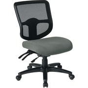 Office Star Proline II Fabric Computer and Desk Office Chair, Armless, Gray (98341-226)