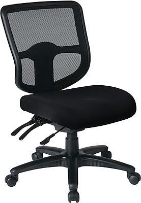 Office Star Proline II Fabric Computer and Desk Office Chair, Armless, Black (98341-231)