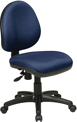 Office Star WorkSmart Plastic Computer and Desk Office Chair, Armless, Navy (DH3400-225)