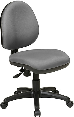 Office Star WorkSmart Plastic Computer and Desk Office Chair, Armless, Gray (DH3400-226)