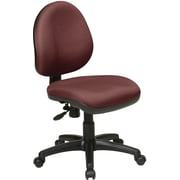 Office Star WorkSmart Plastic Computer and Desk Office Chair, Armless, Burgundy (DH3400-227)