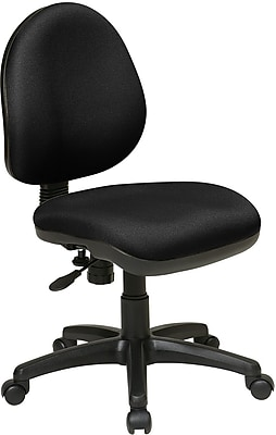 Office Star WorkSmart Plastic Computer and Desk Office Chair, Armless, Black (DH3400-231)