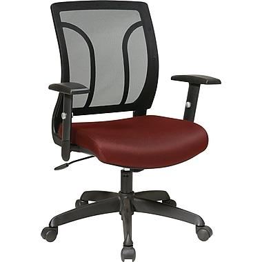 Office Star WorkSmart Mesh Computer and Desk Office Chair, Adjustable Arms, Burgundy (EM50727-227)