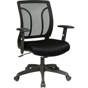 Office Star WorkSmart Mesh Computer and Desk Office Chair, Adjustable Arms, Black (EM50727-231)