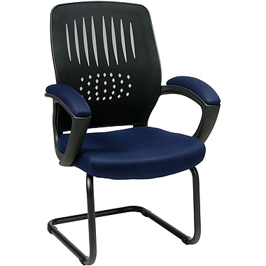 Office Star WorkSmart™ Fabric Guest Chair with Screen Back, Navy