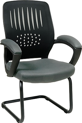 Office Star WorkSmart™ Fabric Guest Chair with Screen Back, Gray