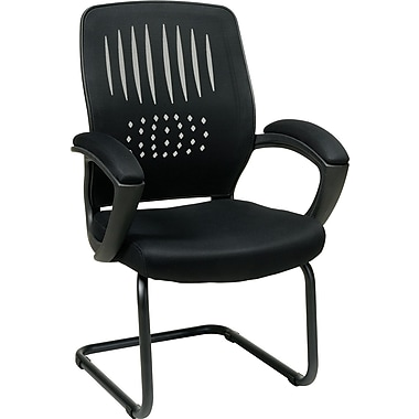Office Star WorkSmart™ Fabric Guest Chair with Screen Back, Black