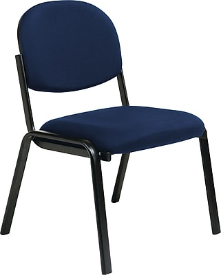 Office Star Worksmart Steel Visitors Chair, Navy (EX31-225)