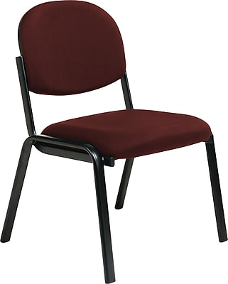 Office Star Worksmart Steel Visitors Chair, Burgundy (EX31-227)