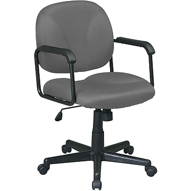 Office Star WorkSmart Fabric Executive Office Chair, Fixed Arms, Gray (EX3301-226)