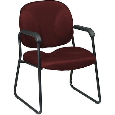 Office Star Worksmart Metal Executive Guest Chair, Burgundy (EX3302-227)
