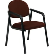 Office Star Worksmart Steel Guest Chair, Burgundy (EX35-227)