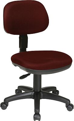 Office Star Fabric Computer and Desk Office Chair, Burgundy, Armless Arm (SC117-227)