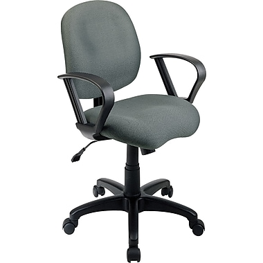 Office Star Fabric Computer and Desk Office Chair, Fixed Arms, Fixed Arm (SC59-226)