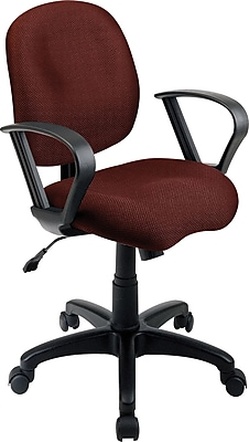 Office Star Fabric Computer and Desk Office Chair, Burgundy, Fixed Arm (SC59-227)