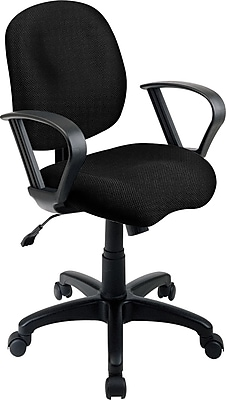 Office Star Fabric Computer and Desk Office Chair, Black, Fixed Arm (SC59-231)