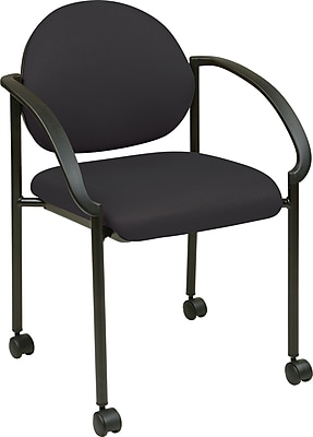 Office Star STC3440-231 Fabric Stack Chair, Black