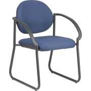 Office Star WorkSmart™ Fabric Deluxe Sled Base Arm Chair, Navy