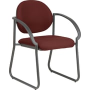 Office Star WorkSmart™ Fabric Deluxe Sled Base Arm Chair, Burgundy
