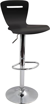 Lumisource H2 Bent Wood Bar Stool, Black
