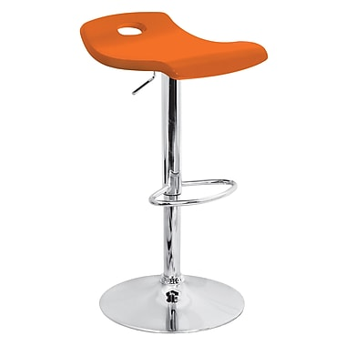 Lumisource Surf Wood Bar Stool, Orange (BS-TW-SURF O)