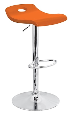 Lumisource Surf Wood Bar Stool, Orange