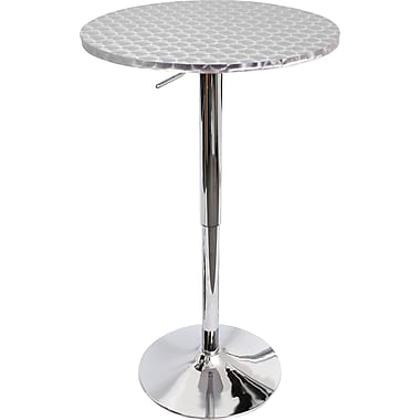 LumiSource - Table de bar Bistro en acier inoxydable, 26 x 41 x 22 po, (BT-BISTRO)